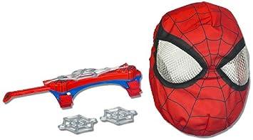 Spiderman Hasbro Web blaster Lanza redes - Lanzador de redes efecto tirachinas (incluye máscara y