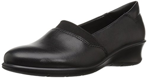 ECCO Women's Women's Felicia Slip On II Wedge Pump, Black, 39 EU/8-8.5 M US