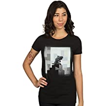 JINX Minecraft Women's One Wolf Moon Premium Cotton/Poly T-Shirt