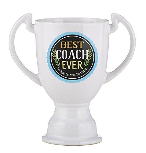 Creative Brands Best Freaking Trophy Ceramic Coffee Mug, 14 oz, Coach (Trophy Coach)