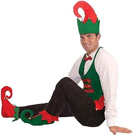 Elf Shoe Cover Adult Green Christmas Santa Accessory Unisex Costume Halloween