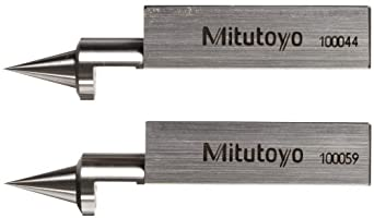 "Mitutoyo 619021 Tram Point For Rectangular Gage Blocks, 1.97"" Length, 0.35"" Width, 0.33"" Height"