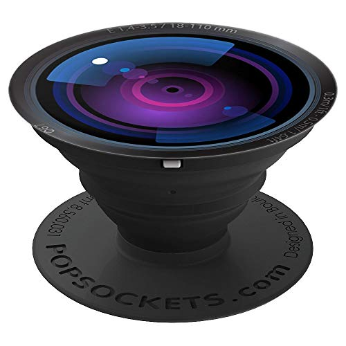 Camera Zoom Lens Design Phone Grip - PopSockets Grip and Stand for Phones and Tablets ()