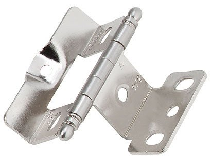 Sterling Door Hinges (Amerock CM3175TBG9 Full Inset, Full Wrap, Ball Tip Hinge with 3/4in(19mm) Door Thick. - Sterling)