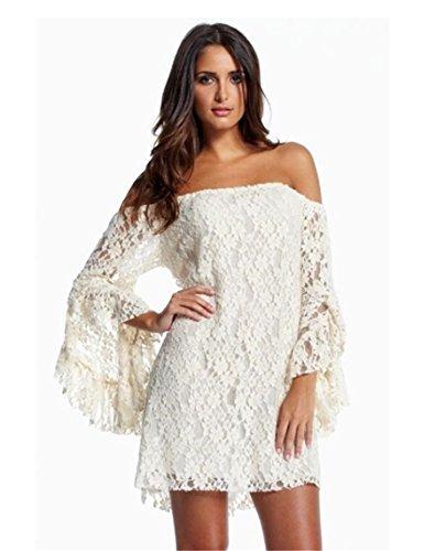 beach style lace wedding dress - 1