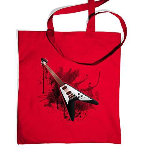 Price comparison product image Flying V Guitar Tote Bag - Classic Red One Size Tote Bag
