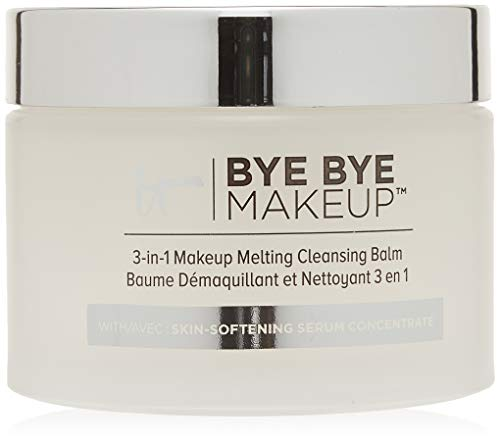 IT Cosmetics Bye Bye Makeup 3-in-1 Makeup Melting Cleansing Balm, 2.82 oz (80 g) (Best Makeup Remover For Foundation)