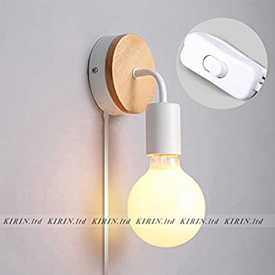 Mininalist Wall Lamp Plug-in with Rock Switch