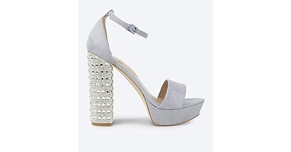 cfea971ef86aa Aldo Light Blue Heel Sandal For Women: Amazon.com