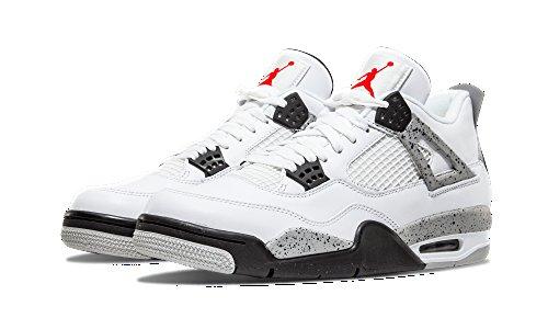 reputable site 95783 6dc13 Nike Air Jordan 4 Retro OG Herren Hallo Top Basketball Trainer 840606  Turnschuhe Schuhe Weiß Feuer