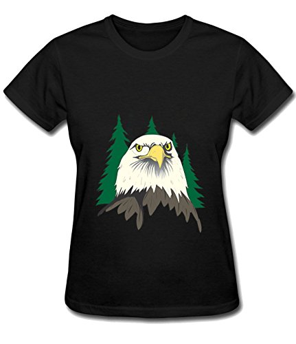 ReRabbit eagle with forest Tees For woman S (Adrian Peterson Wall Graphic)
