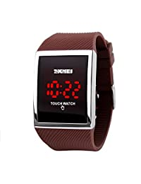 Gosasa Touch Screen Digital LED Waterproof Boys Sport Casual Wrist Watches?Brown)