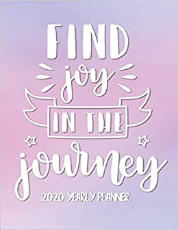 Best Self Help Books 2020.Find Joy In The Journey 2020 Yearly Planner Pretty Pink