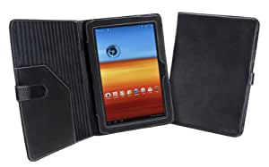 Cover-Up Samsung Galaxy Tab 10.1 Tablet (GT-P7510 / GT-P7500) Leather Cover Case (Book Style) - Black