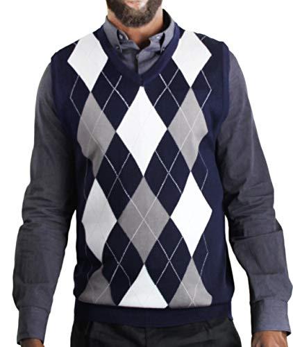 Blue Ocean Men's Argyle Sweater Vest-X-Large ()