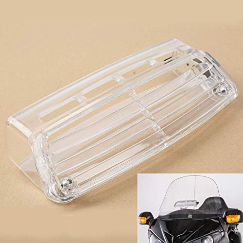 TCMT Clear Windscreen Windshield Fresh Air Vent Fits For Honda Goldwing GL1800 2004 2005 2006 2007 2008 2009 2010 2011 2012 2013 2014 2015 2016 (Motorcycle Vents Windshield)