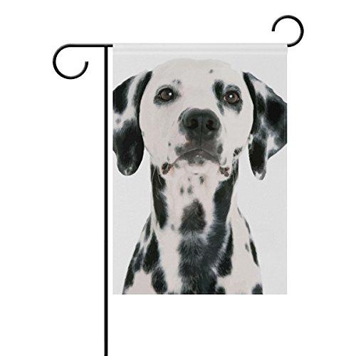 "LEISISI Dalmatian Garden flag 12""X18"" Two Sided Yard Decorat"