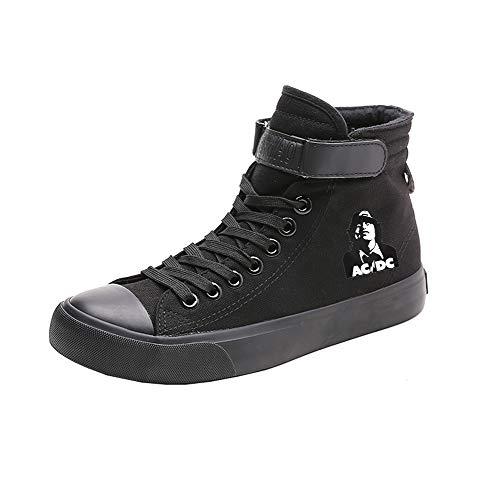 Colores Con Alta Puros Popular Ayuda Canvas Casual Acdc Cordones Black07 De Zapatos Estudiantes Transpirables CFpqZt