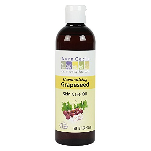Harmonizing Grapeseed Skin Care Oil with Vitamin E, 16 Fluid Ounces by Aura Cacia Pure Essential Oils