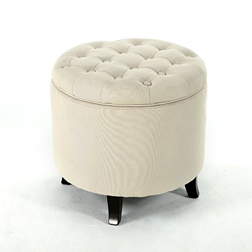 Belleze Modern Button Tufted Accent Storage Ottoman Lift Top Footstool 17-3/4