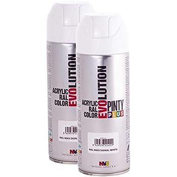 Fast Dry, Low Odor, Low VOC - Acrylic Spray Paint Pintyplus Evolution -  Pack of 2 (Signal White)