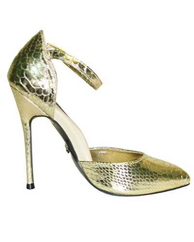 Heel Gold Snake Fierce 141 Women's Highest Stiletto Pu SUqzOO