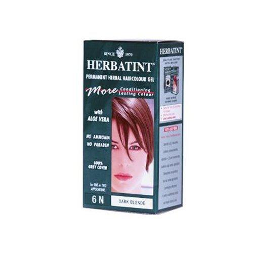 Pack of 1 x Herbatint Permanent Herbal Haircolour Gel 6N Dark Blonde - 135 ml by Herbatint by HERBATINT