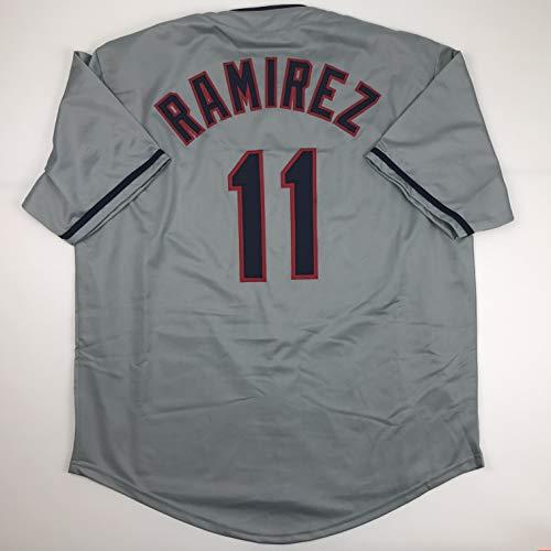 (Unsigned Jose Ramirez Cleveland Grey Custom Stitched Baseball Jersey Size Men's XL New No)