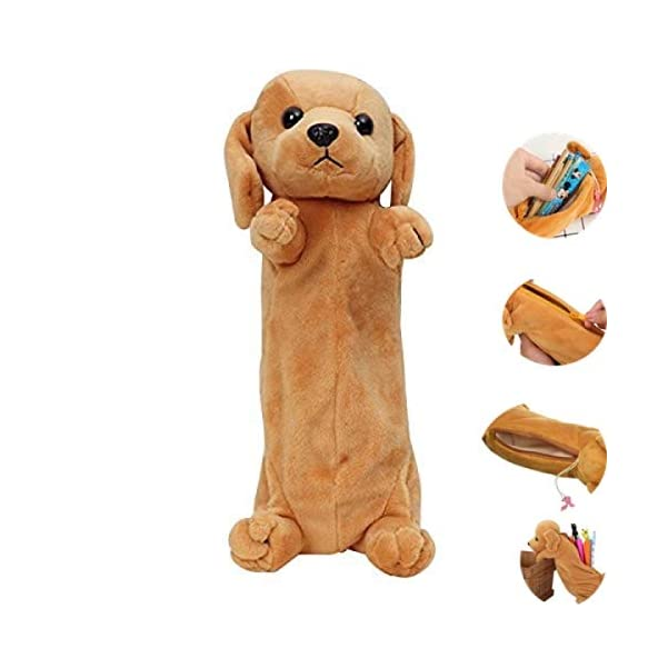 24×7 eMall Emoji Pencil Pouch Soft Toys for Children, Kids Favorite Pencil Box (3D Dog)