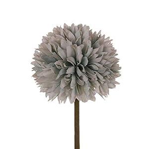 NszzJixo9 Artificial Silk Fake Flowers Romantic Floral Wedding Bouquet Hydrangea Decor, Silk Fake Flowers Wedding Home Decoration Shower Part, European Simulation of Peony Green (Gray) 104