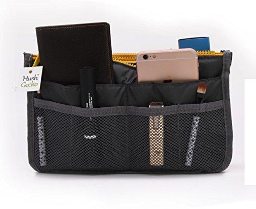 HushGecko Handbag Nylon Organizer Multi Pocket