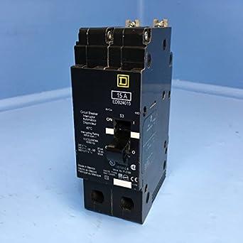 Square D edb24015 15 A Polo interruptor de circuito 2 480y/277 V ...