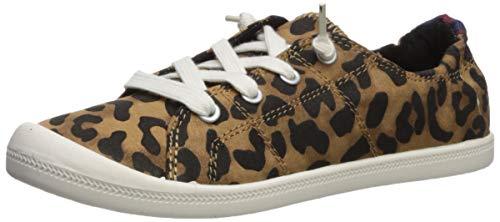 Madden Girl Shoe's BAAILEY Sneaker, Tan Leopard Canvas, 10 M US