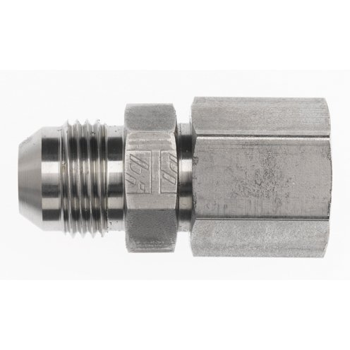 Brennan 6 Units Straight Adapter 3//8 in Female JIC 37/° Flare x 3//8 in Male JIC 37/° Flare Steel