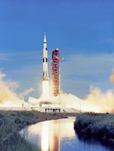 (Apollo 15 Saturn V Rocket Launch NASA Poster Photo USA Space Historical Posters Photos 11x14)