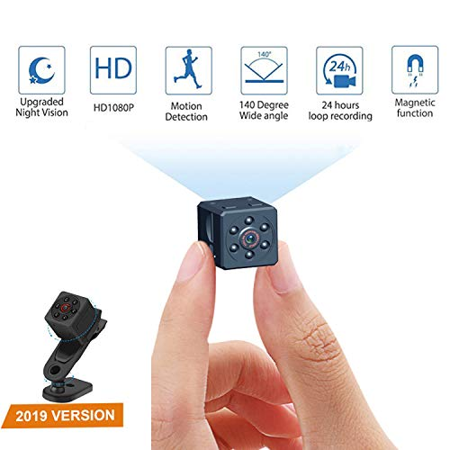Mini Spy Hidden Camera Wireless Portable Small HD Nanny Cam with HD 1080P, Night Vision, Video Record and Motion Activated, DORISO Security Hidden Spy Camera Perfect for Home/Office/Outdoor Use