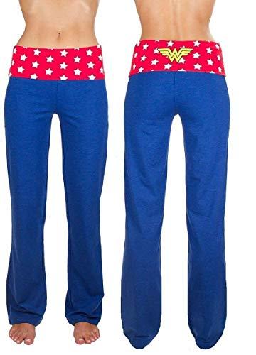 DC Comics Wonder Woman Yoga Pants (Large) Blue]()