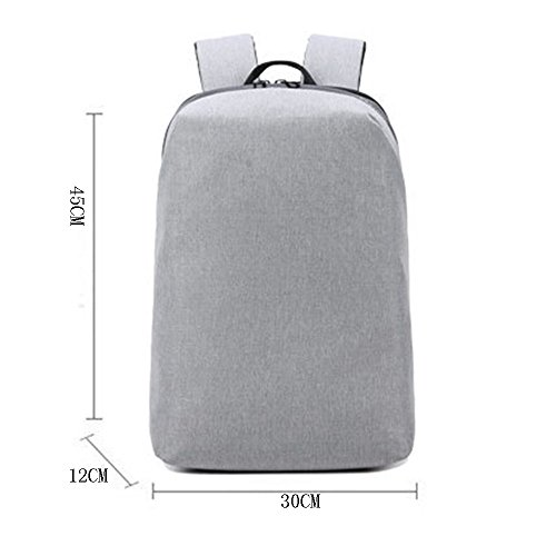 Male Shoulder Business Youth Computer Bag Korean Leisure College Female Schoolbag Knapsack Gray Schoolgirl Men Fashion Trend 6qFaFwO