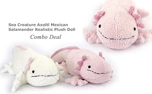 Sea Creature Plush Doll Collection (Set Axoltl Plush Pink)