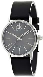 Calvin Klein Postminimal Leather K7622207 - Reloj de caballero de cuarzo, correa de piel color negro