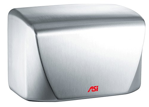 ASI 0198-93 Surface Mounted Turbo-Dri Jr. High-Speed Automatic Hand Dryer, Satin Stainless Steel