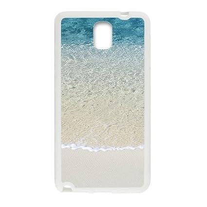 Amazon.com: Beach Scene White Phone Case For Samsung Note 3 ...