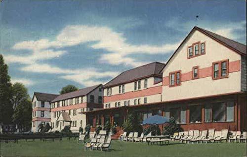 National Hotel Swan Lake, New York NY Original Vintage Postcard 1959
