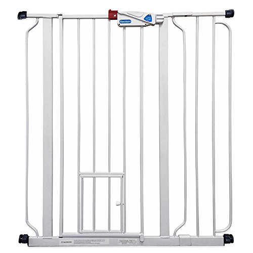 Carlson Extra-Tall Pressure-Mount Walk-Through Pet Gate in White by Carlson
