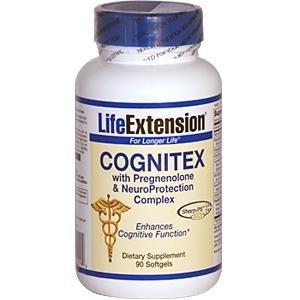 Life Extension Cognitex de prégnénolone et le complexe de la neuroprotection, Capsules, 90-Count