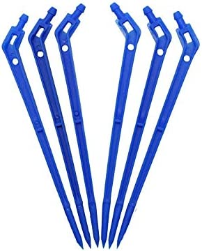 ガーデニング灌漑ツール コネクタ 4/7ミリメートルホース用60pcs 1/4アロードリップエミッタ曲線矢印ドリッパー植物ベンドスプリンクラーマイクロ灌漑システムコネクタ 水道管の接続 (Color : Blue)