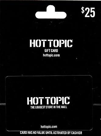 Amazon.com: Tarjeta de regalo de Hot Topic: Tarjetas de regalo