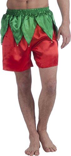 Forum Men's Elf Boxer Shorts, Red/Green, One -