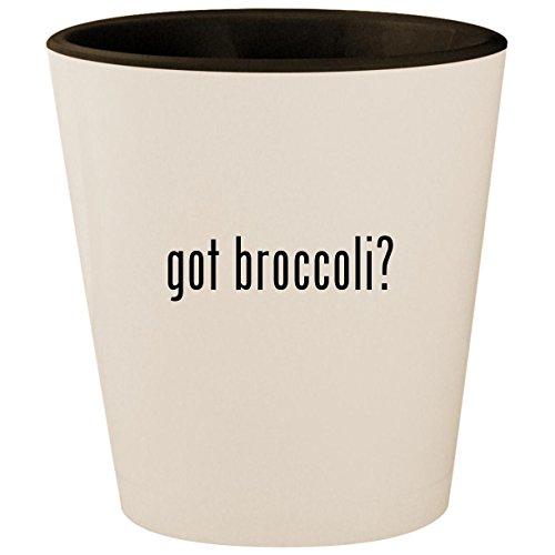 got broccoli? - White Outer & Black Inner Ceramic 1.5oz Shot -
