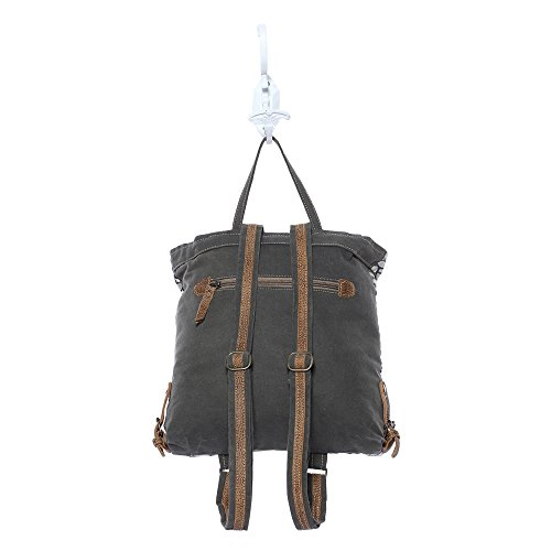 26d979e45295 Myra Bag Honey Bee Cowhide & Upcycled Canvas Backpack S-1162 ...